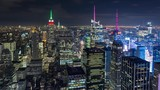 New York City and Times Square Aerial Night Timelapse - 174452280