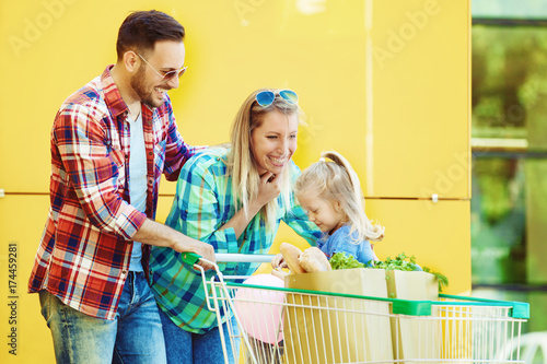 Happy Family in Shopping