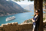 The girl admires the view, Kotor Montenegro - 174463866