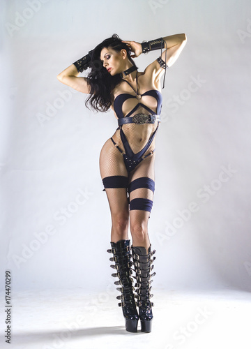 BDSM. Woman. Full length portrait. Poster