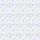 vector baby seamless flowers pattern