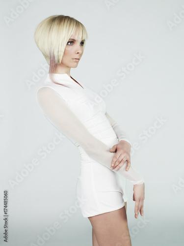 Spoed canvasdoek 2cm dik womenART Sexy blonde