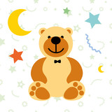 vector illustration toy teddy bear