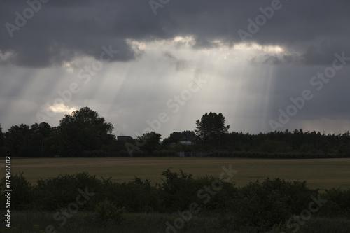 Keuken foto achterwand Donkergrijs Skåne landscape