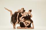 The group of modern ballet dancers - 174514213