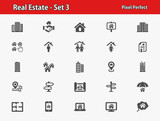 Real Estate Icons. Professional, pixel perfect icons optimized for both large and small resolutions. EPS 8 format. - 174514245
