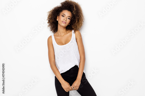 Beautiful african american female model - 174542490