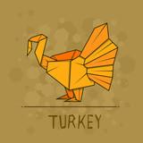 Vector illustration paper origami of sea turkey. - 174542856