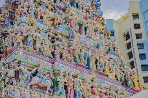 Sri Veeramakaliamman Tempel in Singapur Poster