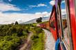 Quadro Ecuadorian railroad crossing the Sierra region