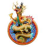Chinese golden dragon - 174577282