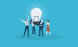 Big idea. Flat design business people concept. Vector illustration concept for web banner, business presentation, advertising material. - 174593489