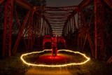 Devil in circle of sparks - 174595430