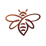 Bee Logo, bee vector, honey