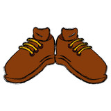 Sport sneakers wearfoot icon vector illustration graphic design