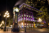Steam Clock in Gastown, Downtown Vancouver, British Columbia, Canada. - 174660894