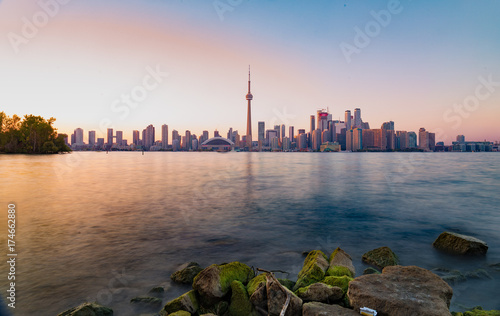 Foto op Aluminium Toronto Toronto Skyline at Sunset
