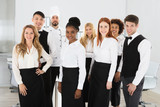 Portrait Of Confident Restaurant Staff - 174666882