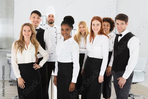 Portrait Of Confident Restaurant Staff
