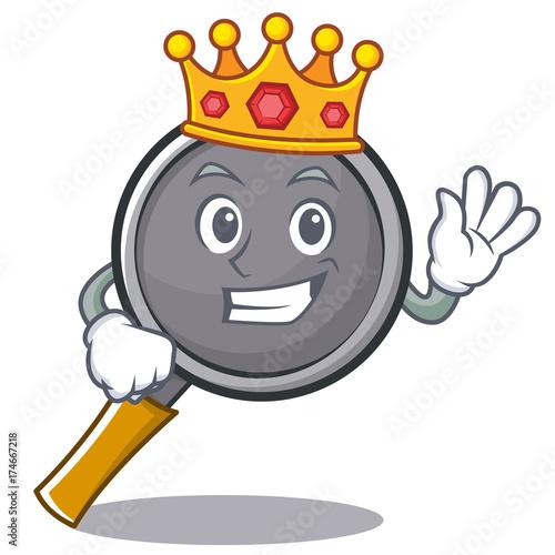 King frying pan cartoon character