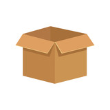 Cardboard box isolated icon vector illustration graphic design - 174667408