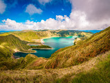 Fototapety Beautiful panoramic view of Lagoa do Fogo lake in Sao Miguel Island, Azores, Portugal