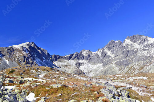Foto op Aluminium Donkerblauw Beautiful scenery of Tatra mountains. Slovakia