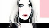 Fashion illustration. Beautiful woman face - 174680496