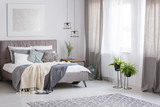 Sophisticated soft color bedroom