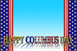 Columbus Day, 3D, Template for American Holiday.