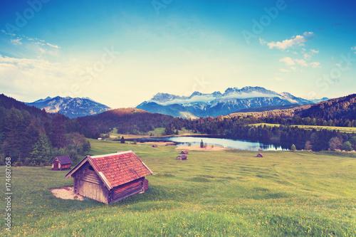 Fotobehang Bergen Herbst am Karwendel