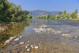 scenery with river and mountains - 174691223