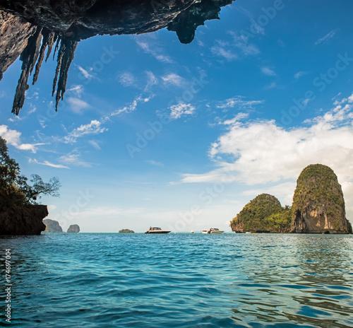 Aluminium Thailand Tropical Phra Nang Beach at Railay Krabi Thailand.