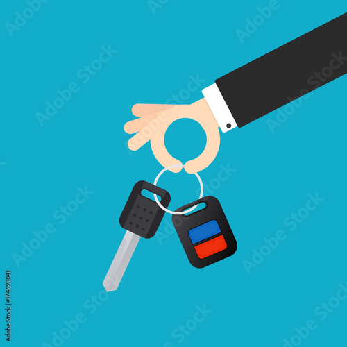 hand holding key car