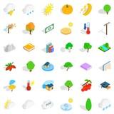 Lightning icons set, isometric style - 174699863
