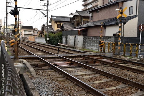 In de dag Spoorlijn 踏切