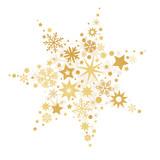 weihnachtlicher goldener Stern vektor Illustration - 174701838