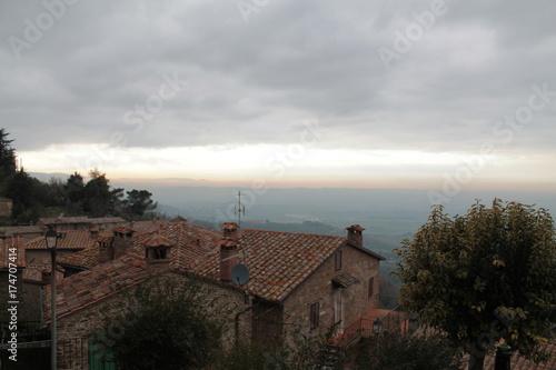 Fotobehang Chocoladebruin Panicale - Perugia