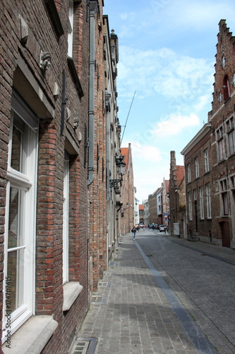 Spoed canvasdoek 2cm dik Brugge Per le strade di Bruges,Belgio