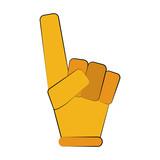 foam finger icon image vector illustration design  - 174714270