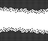 Ungleichmäßiger Rahmen aus schwarzen Punkten - 174717876
