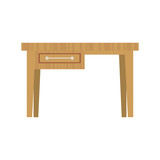 desk with small drawer furniture icon image vector illustration design  - 174719035