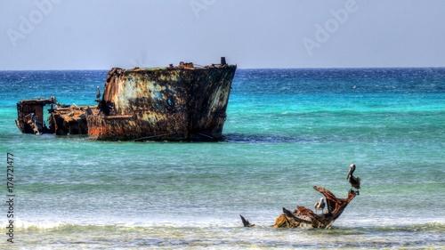 In de dag Schipbreuk Aruba Dutch Antilles