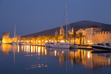 Waterfront view of beautiful Trogir, Croatia - Unesco World Heritage Site. Image take before sunrise, at the blue hour. - 174728603