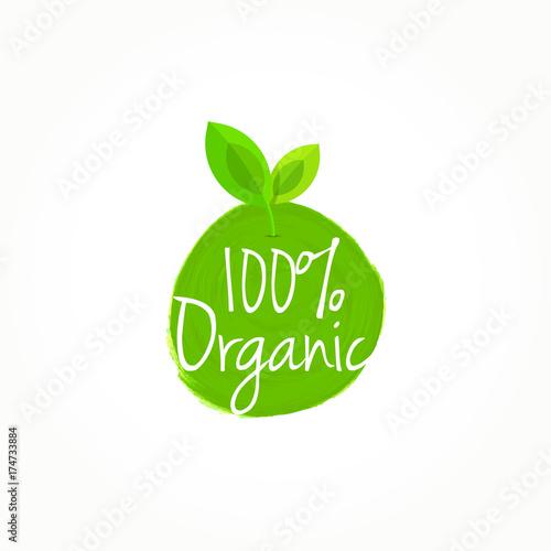 100% Organic Label