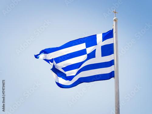 Foto op Aluminium Santorini griechisches banner