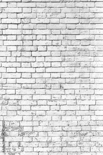 Fototapeta white brick wall