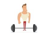 Fitness models, posing, bodybuilding