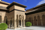 Alhambra Palace, court of the Lions architecture n Granada, Spain - 174766611