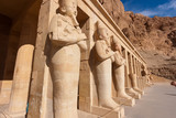 Huge statues at the temple of Queen Hatshepsut in the deserts around Luxor, Egypt - 174769455